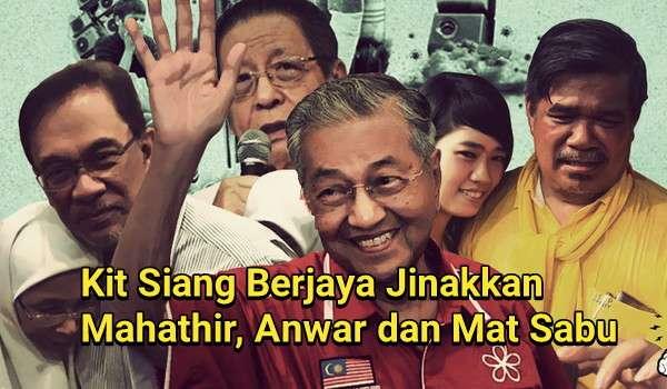 Kit Siang Berjaya Jinakkan Mahathir, Anwar dan Mat Sabu