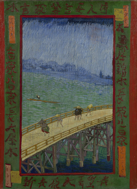 Van Gogh, Japanese Bridge in the Rain