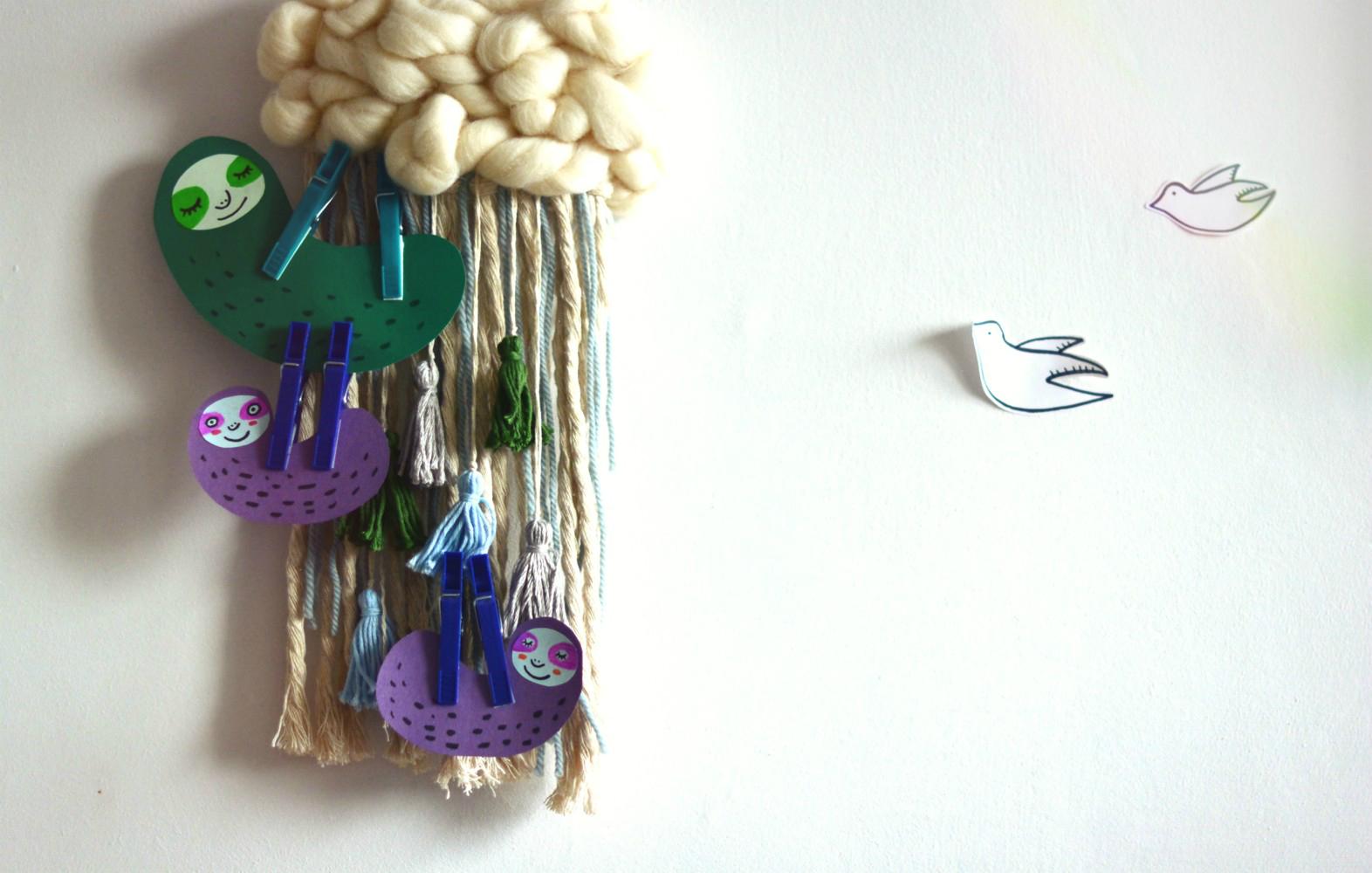 DIY: leniwce z klamerek do prania