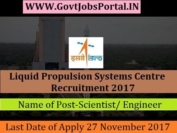 Liquid Propulsion Systems Centre Recruitment 2017 17