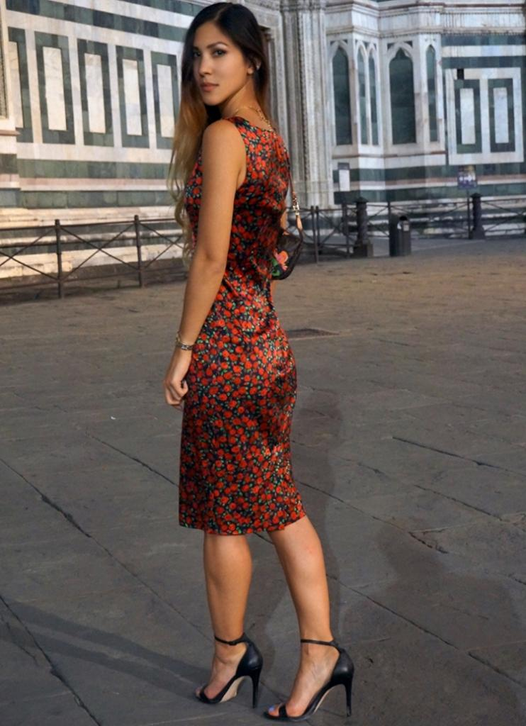 Euriental - Dolce & Gabbana floral dress, Florence, Italy