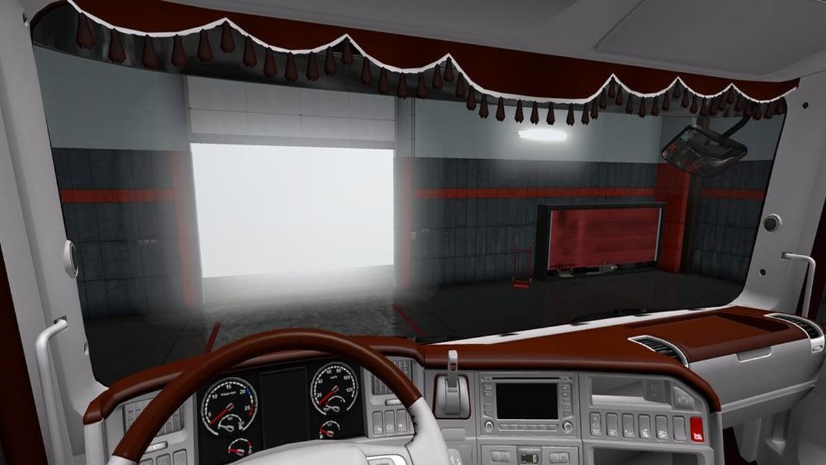 Brown White Interior for Scania RJL