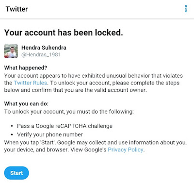 Penyebab Akun Twitter Terkunci dan Cara Mengatasinya - Blog Mas Hendra