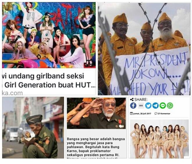 """Tina Azizi: Apakah HUT RI Undang Girlband Korea Wujud """"Saya Pancasila""""? Sementara Veteran Hidup Menderita"""