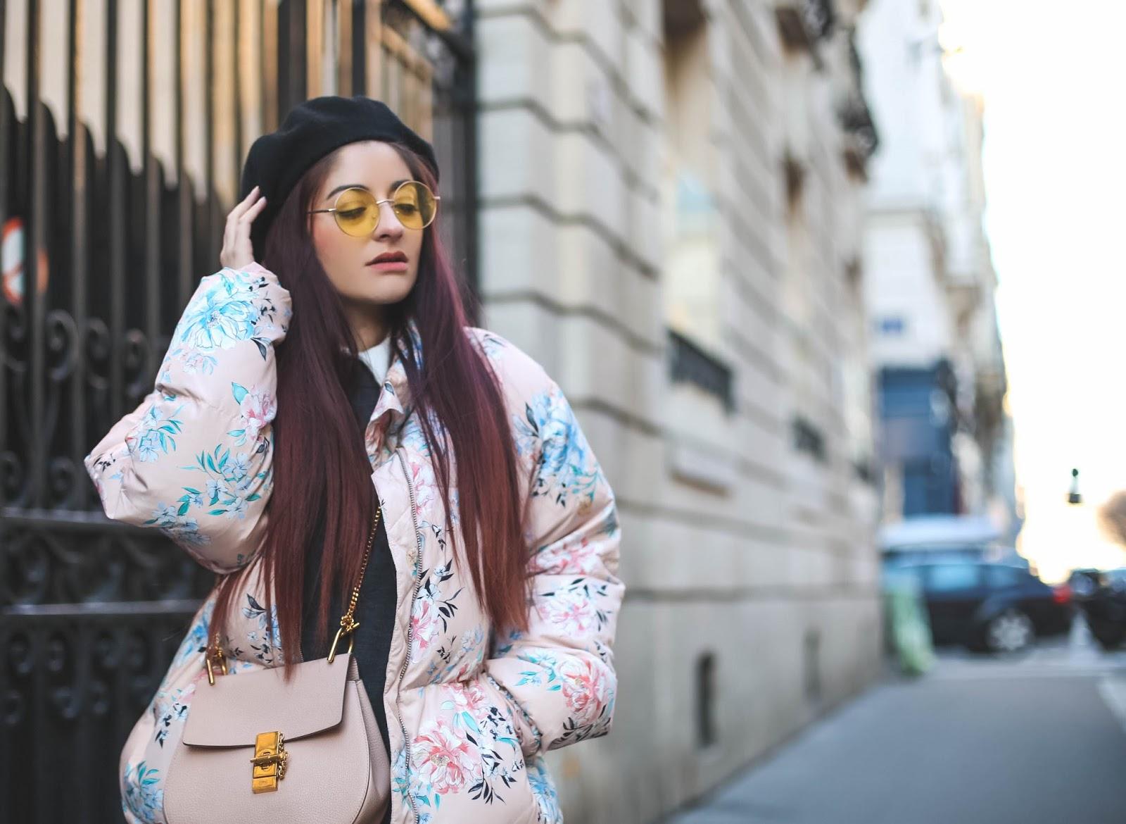 lunettes jaunes rondes retro blog mode paris