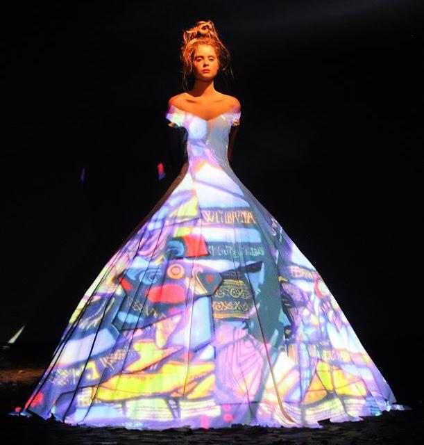 Fashion Show Fairytale Light Projection. Franck Sorbier