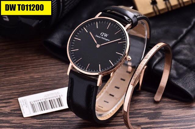 Đồng hồ dây da DW T011200