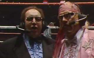 WWF (WWE) WRESTLEMANIA 1: Gorilla Monsoon & Jesse Ventura welcome us to 'The Wrestling Extravaganza of All Time!'