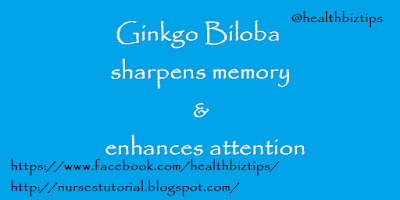 Ginkgo Biloba sharpens memory and enhances attention