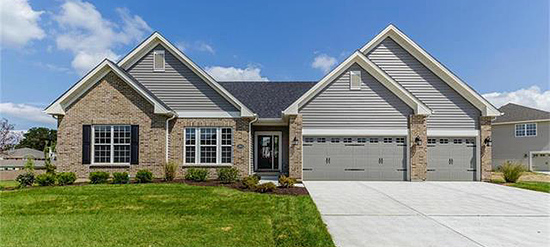 Completed new construction home for sale in St. Peters Missouri