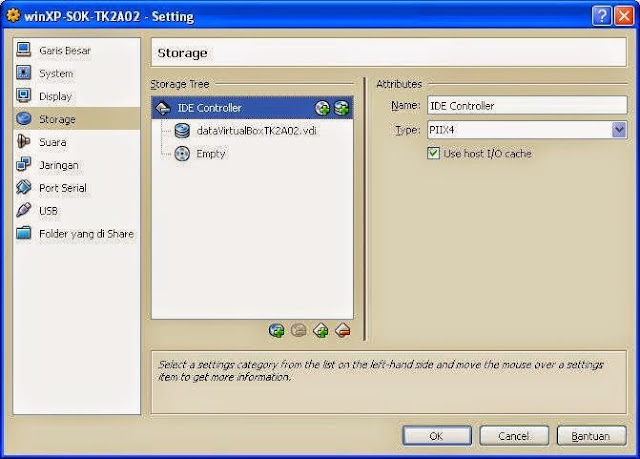 image setting virtual box