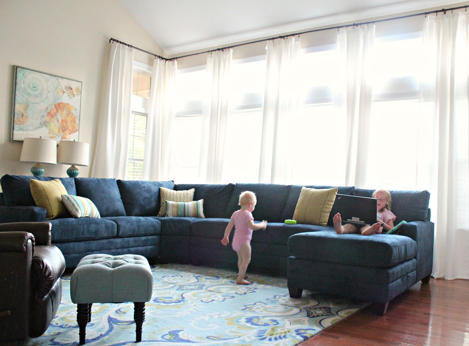 carolina on my mind: Living Room Makeover: Part 5 (Navy Sectional)