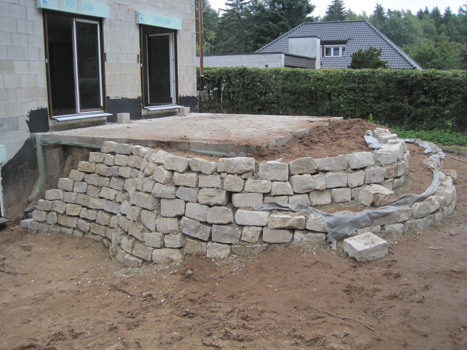 wall mit naturstein abfangen hausgartennet