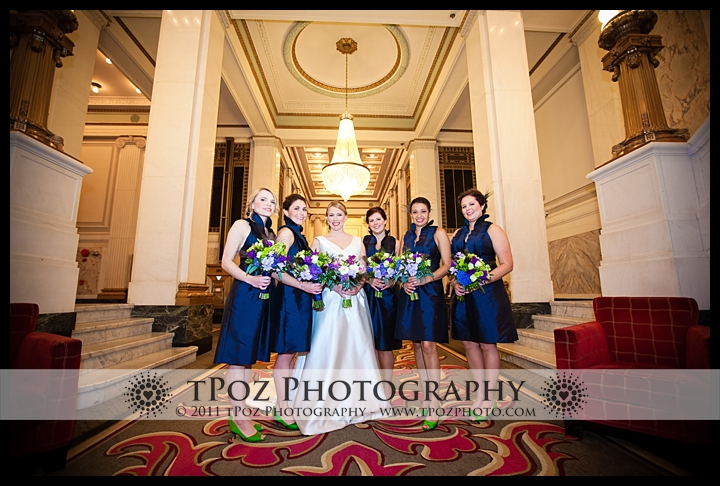 Hotel Monaco Baltimore Wedding Bridal party Photo