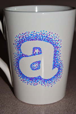 Simple DIY Dotted Sharpie Mug