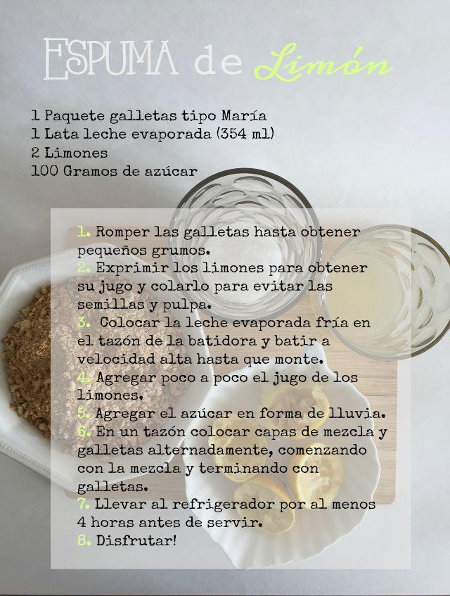 Suave y refrescante Mousse de Limón http://bizcochosysancochos.blogspot.com/