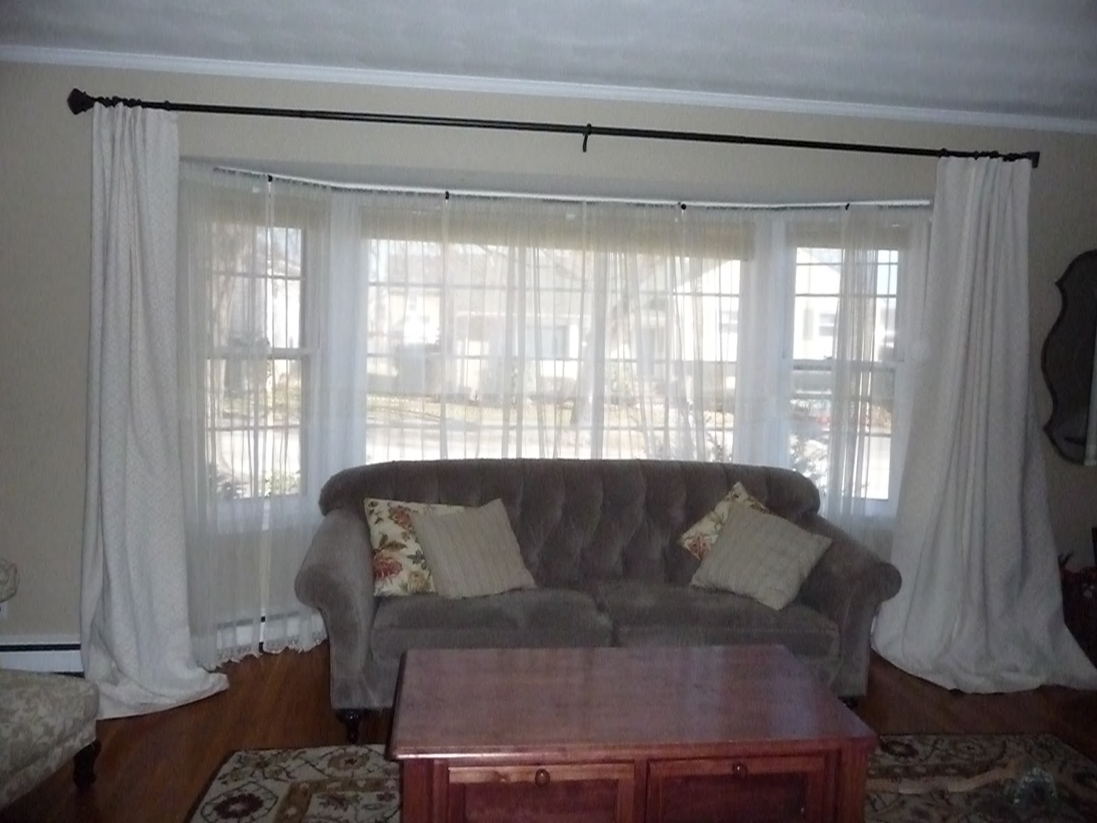 Test Window Treatments For A Bay Window