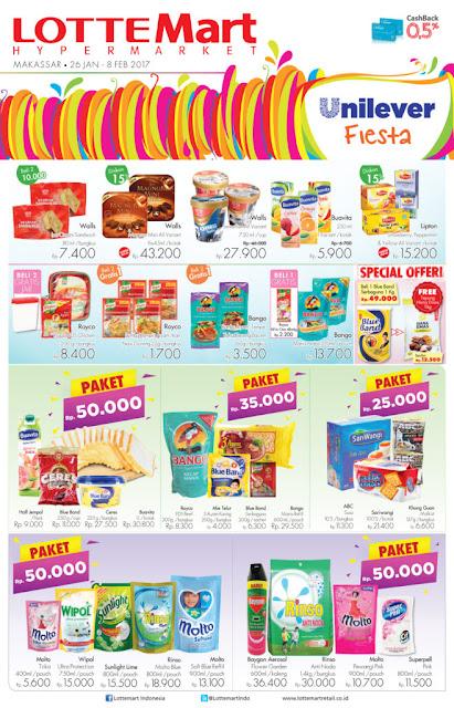 Promo Belanja Hemat di LOTTEMART RETAIL Khusus Unilever Fiesta