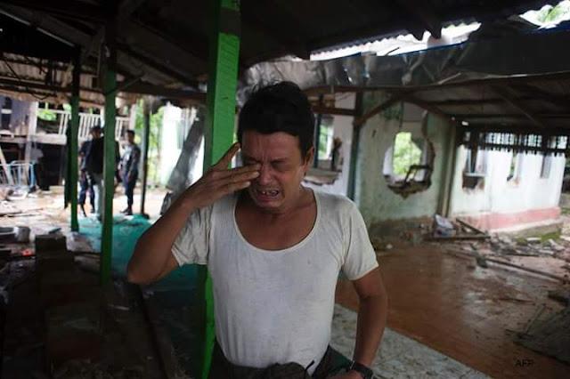 Innalillahi... Sebuah Masjid Komunitas Muslim Dirusak Oleh Teroris Buddha Myanmar