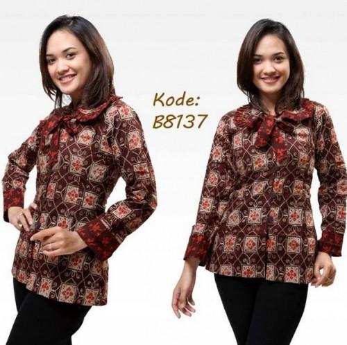Baju Batik Guru Perempuan: 10+ Model Baju Batik Wanita Lengan Panjang Modern