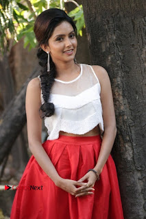 Actress Mahima Nambiar Latest Stills in White Top and Red Skirt at Kuttram 23 Movie Press Meet  0008.jpg