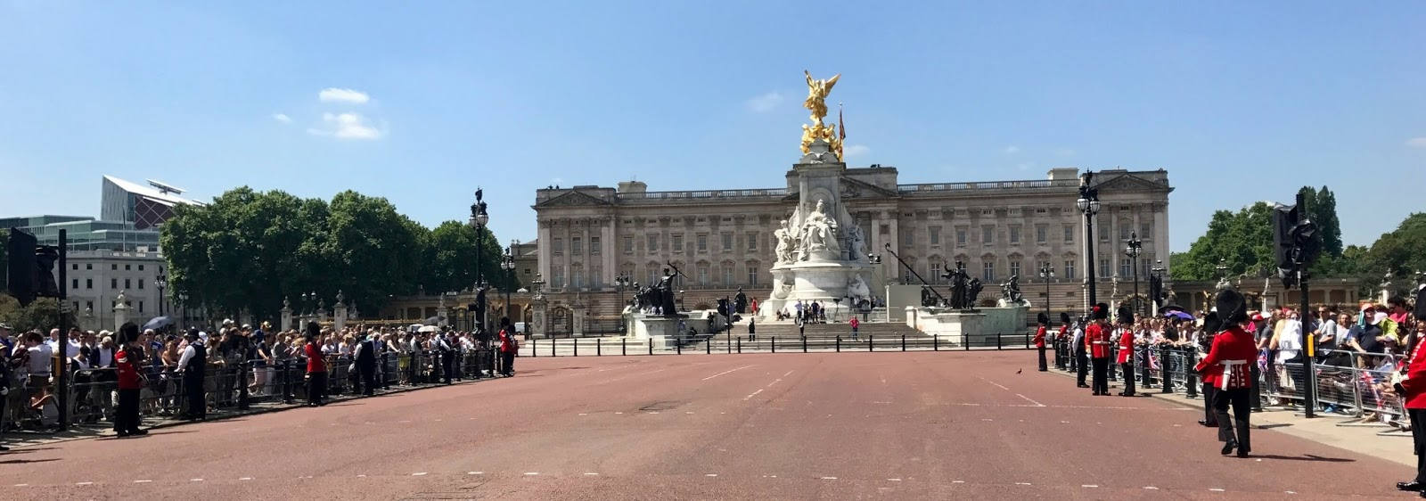 Buckingham Palace, taken from the middle of the road