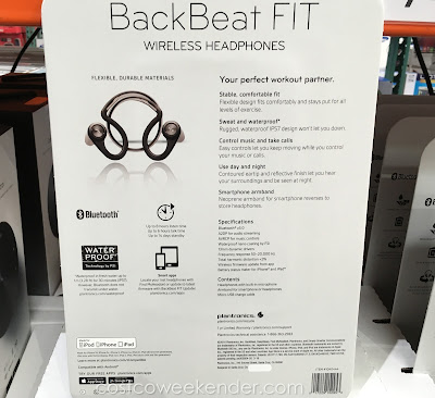Costco 1040444 - Plantronics BackBeat FIT Wireless Headphones - great for your active lifestyle