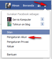 cara ganti password facebook