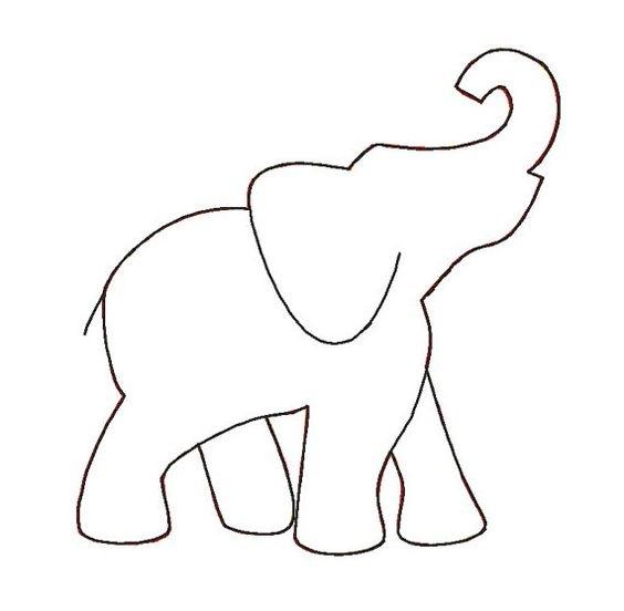 Tranh tô màu con voi cho bé hai tuổi