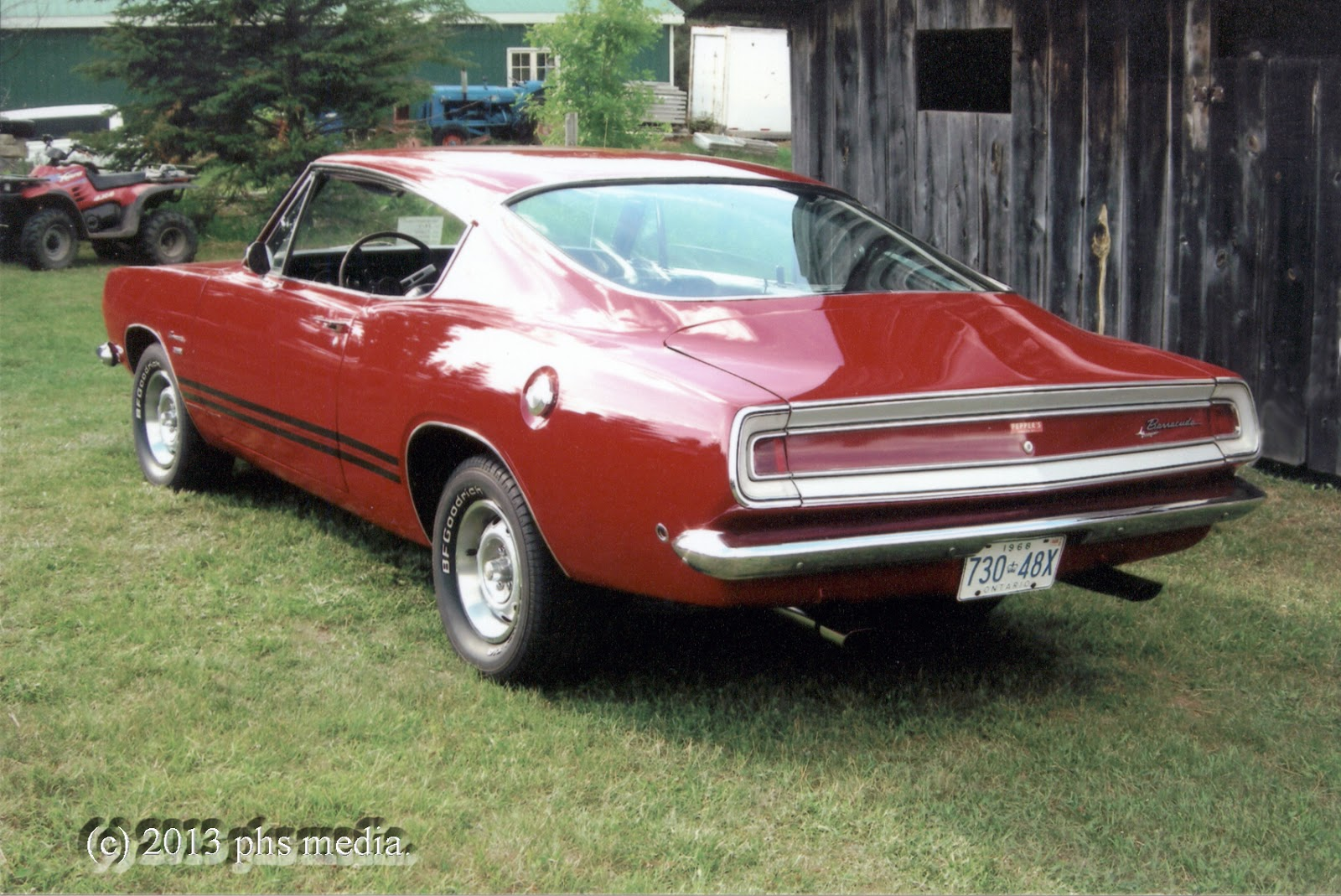 1968 Plymouth Barracuda 318 4 Speed Fastback Phscollectorcarworld 1970 Cuda Wiring Diagram Sold New In Syracuse York The Car Was Excellently Maintained