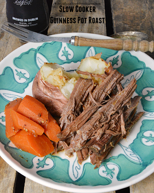 Slow Cooker Guinness Pot Roast #StPatricksDay