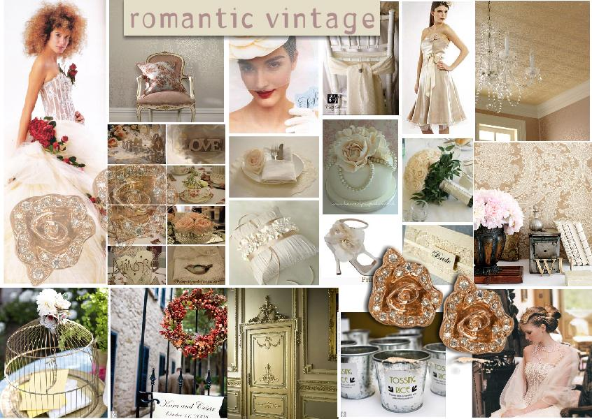 Moodboard Inspiration: Romantic Vintage Wedding