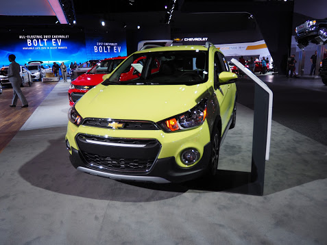 Yellow Chevrolet Spark ACTIV