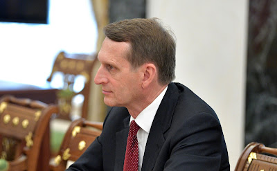Director of the Foreign Intelligence Service Sergei Naryshkin at a meeting with permanent members of Security Council.
