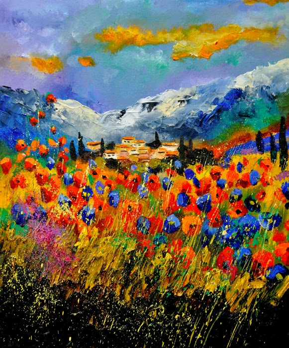Provença - Cores fortes e vibrantes nas pinturas de Pol Ledent