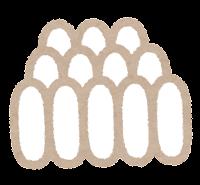 蚊の一生のイラスト(卵)