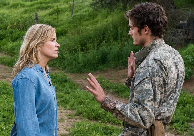 Madison Clark (Kim Dickens) e Troy Otto (Daniel Sharman) nell'episodio 7