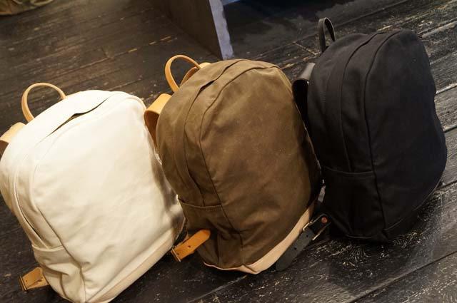 9618edfd2d40 JOSHU+VELA WAX CANVAS LEATHER ZIP BACKPACK   39900yen