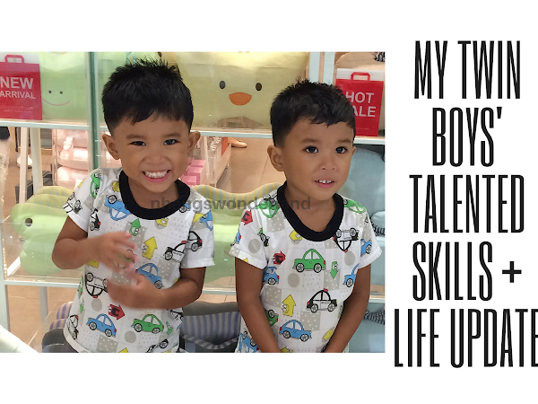 My Twin Boys' Talented Skills + Life Update