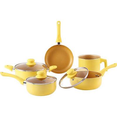 Conjunto de Panelas La Cuisine Everyday Amarelo