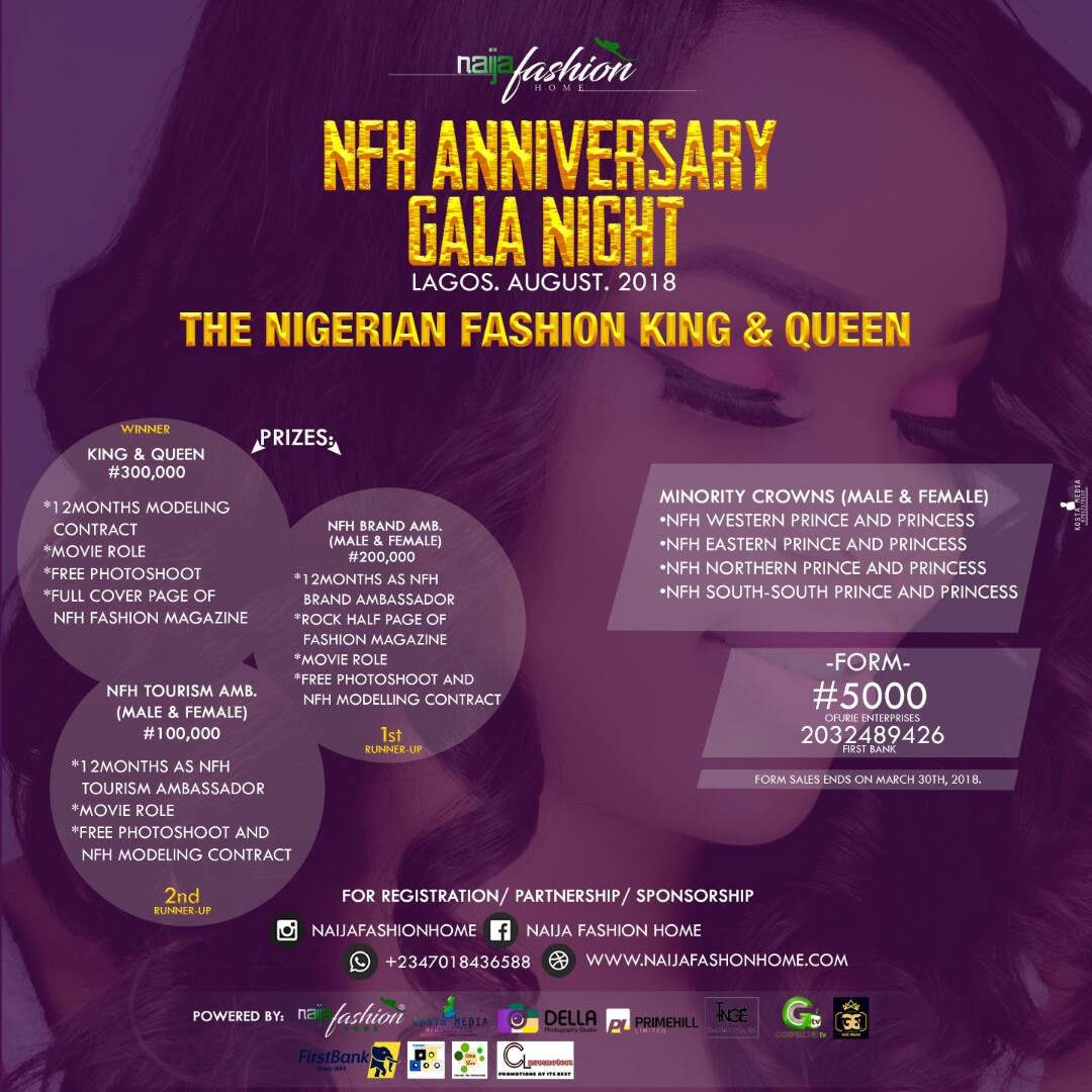 Welcome To Fj Models Register Here For The Nigerian Fashion King And Queen 2018 And For Fashion Designers Exhibition In The Nfh Anniversary Gala Night