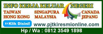Pekerjaan TKI Informal Gratis Tanpa Biaya (Potong Gaji)