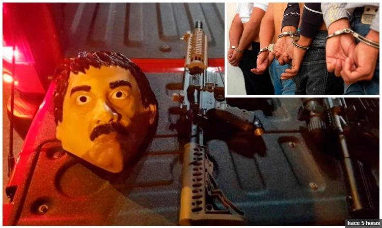 Se disfrazaron del Chapo con todo y armas y les cayo la poli