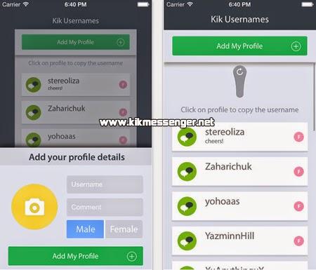 Encuentra nuevos amigos con K Usernames  For Kik Messenger