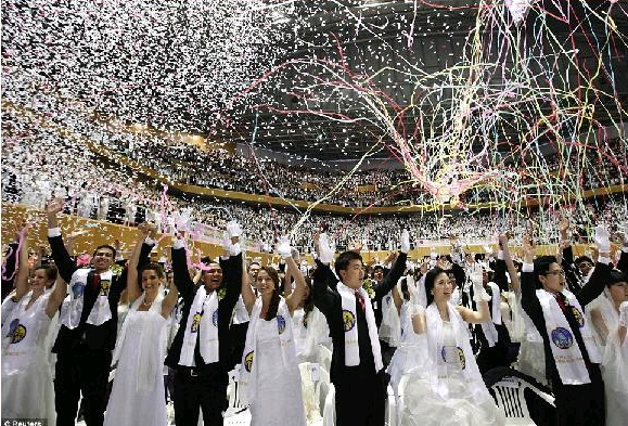 mass wedding south korea 3500 couples