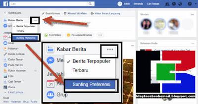 cara unfollow orang di facebook atau FB versi PC laptop