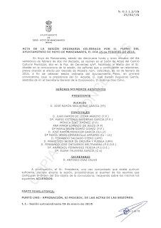 Acta Pleno 21 de febrero de 2016