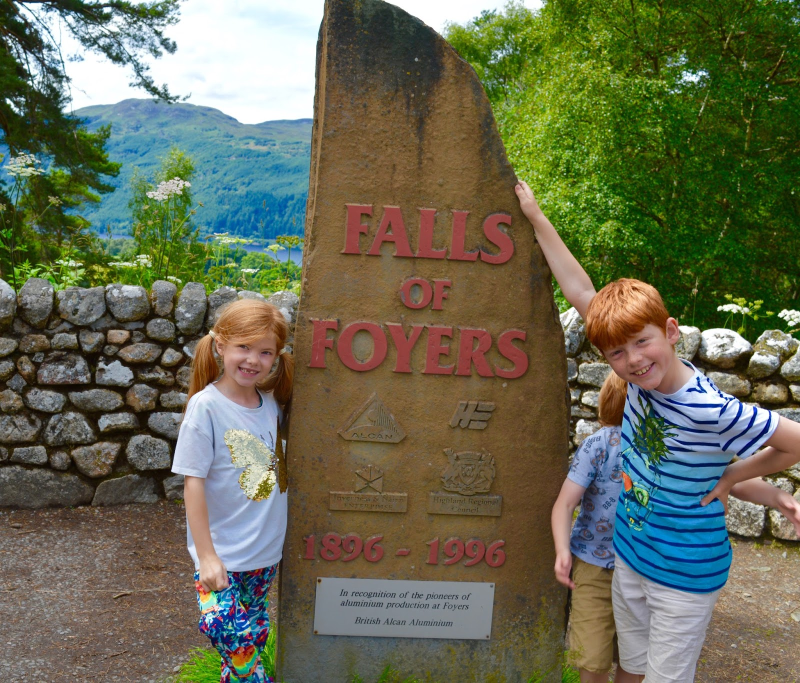 Loch Ness Shores Campsite | A Review - falls of foyers view