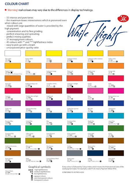 The colour chart was hard to find so  borrowed one again from my own blog post about these paints are marketed as an artist quality range but some also painted watercolour swatches introduction jane blundell rh janeblundellart