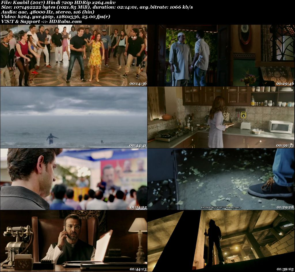Kaabil 2017 Hindi 720p HDRip 1GB Screenshot